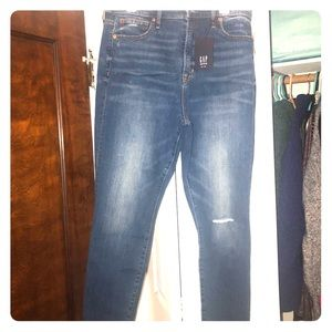 Gap sky high true skinny jeans NWT